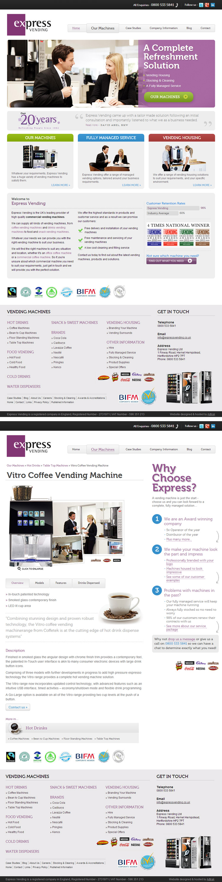 Express Vending Website