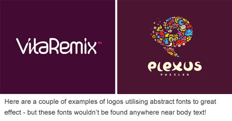 Fonts in logos