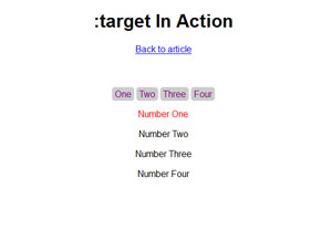 :target in Action