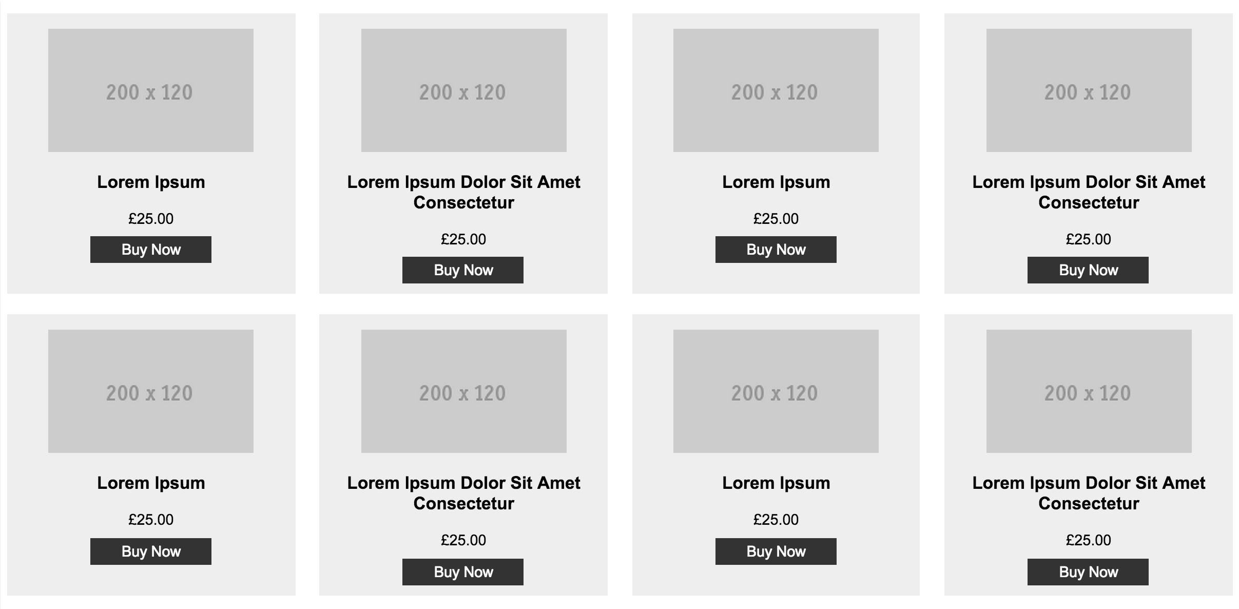 Product items with equal heights thanks to Flexbox